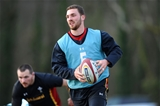 16.02.16 - Wales Rugby Training -George North during training.