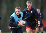 16.02.16 - Wales Rugby Training -Cory Allen during training.