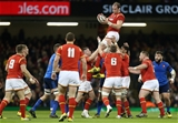 26.02.16 - Wales v France - RBS 6 Nations - Alun Wyn Jones of Wales wins the line out.
