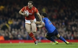 26.02.16 - Wales v France, RBS 6 Nations Championship 2016 - Jamie Roberts of Wales gets past Maxime Mermoz of France