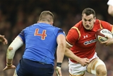 26.02.16 - Wales v France, RBS 6 Nations Championship 2016 - Sam Warburton of Wales takes on Paul Jedrasiak of France