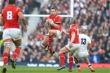 12.03.16 - England v Wales - RBS 6 Nations 2016 -Dan Biggar of Wales takes high ball.