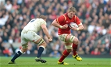 12.03.16 - England v Wales - RBS 6 Nations 2016 -Bradley Davies of Wales takes on Chris Robshaw of England.