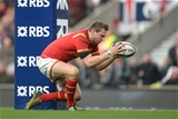 12.03.16 - England v Wales - RBS 6 Nations 2016 -Dan Biggar of Wales scores try.