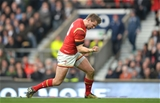 12.03.16 - England v Wales - RBS 6 Nations 2016 -Dan Biggar of Wales celebrates his try.