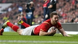 12.03.16 - England v Wales - RBS 6 Nations - George North of Wales try was disallowed.