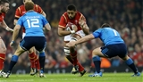 19.03.16 - Wales v Italy - RBS 6 Nations - Taulupe Faletau of Wales is tackled by Andrea Lovotti of Italy.