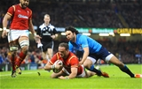 19.03.16 - Wales v Italy - RBS 6 Nations 2016 -Jamie Roberts of Wales scores try.