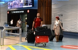 01.06.16 - Wales Rugby Squad Arrive in New Zealand -Jamie Roberts arrives at Auckland airport.