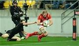 18.06.16 - New Zealand v Wales - Steinlager Series, Second Test -Alun Wyn Jones of Wales scores try.
