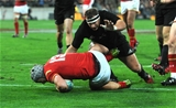 18.06.16 - New Zealand v Wales - Steinlager Series, Second Test -Jonathan Davies of Wales scores try.