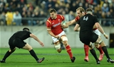 18.06.16 - New Zealand v Wales - Steinlager Series, Second Test -Sam Warburton of Wales is tackled by Dane Coles of New Zealand.
