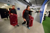 25.06.16 - New Zealand v Wales - Steinlager Series, Third Test -Sam Warburton and Liam Williams of Wales arrive.