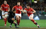 25.06.16 - New Zealand v Wales - Steinlager Series, Third Test -Rhys Webb of Wales is tackled by Aaron Smith of New Zealand.
