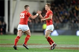 25.06.16 - New Zealand v Wales - Steinlager Series, Third Test -Liam Williams of Wales comes back on for Scott Williams.