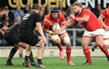 25.06.16 - New Zealand v Wales - Steinlager Series, Third Test -Luke Charteris of Wales looks for a way through.