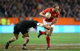 25.06.16 - New Zealand v Wales - Steinlager Series, Third Test -Jamie Roberts of Wales gets past George Moala of New Zealand.