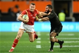 25.06.16 - New Zealand v Wales - Steinlager Series, Third Test -Gareth Davies of Wales is tackled by Lima Sopoaga of New Zealand.
