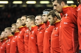 12.11.16 - Wales v Argentina - Under Armour Series -Leigh Halfpenny of Wales during the anthems.