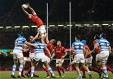12.11.16 - Wales v Argentina - Under Armour Series - Sam Warburton of Wales wins the line out.