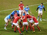 12.11.16 - Wales v Argentina - Under Armour Series - Sam Warburton of Wales steals an Argentinian line out.