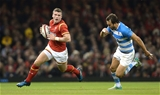12.11.16 - Wales v Argentina - Under Armour Series -Scott Williams of Wales gets past Juan Martin Hernandez of Argentina.