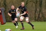 02.02.17 - Wales Rugby Training -Alun Wyn Jones during training.