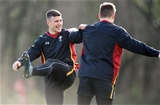 02.02.17 - Wales Rugby Training -Scott Williams and Jonathan Davies during training.