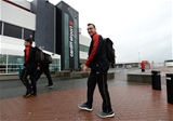 03.02.17 - Wales Rugby Team Travel to Rome -Sam Warburton arrives at Cardiff Airport to travel to Rome.