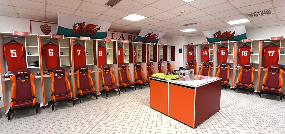 05.02.17 - Italy v Wales - RBS 6 Nations 2017 -The Wales dressing room before kick off.