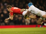 11.02.17 - Wales v England, RBS 6 Nations - Liam Williams of Wales races through to score try