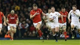 11.02.17 - Wales v England - RBS 6 Nations Championship - Dan Biggar of Wales runs up the field.