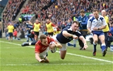 25.02.17 - Scotland v Wales - RBS 6 Nations 2017 -Liam Williams of Wales scores try.