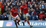 25.02.17 - Scotland v Wales - RBS 6 Nations Championship - Liam Williams of Wales celebrates scoring a try.