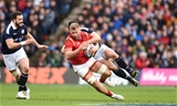 25.02.17 - Scotland v Wales - RBS 6 Nations 2017 -Ross Moriarty of Wales is tackled by Ryan Wilson of Scotland.