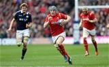 25.02.17 - Scotland v Wales - RBS 6 Nations Championship - Jonathan Davies of Wales makes break.