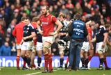 25.02.17 - Scotland v Wales - RBS 6 Nations 2017 -Alun Wyn Jones of Wales looks dejected at the end of the game.