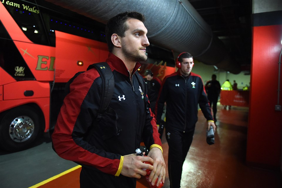 10.03.17 - Wales v Ireland - RBS 6 Nations 2017 -Sam Warburton and Justin Tipuric arrives.