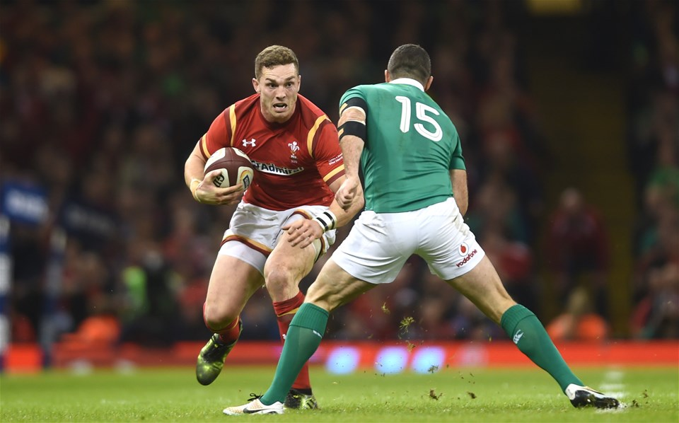 10.03.17 - Wales v Ireland - RBS 6 Nations 2017 -George North of Wales is tackled by Rob Kearney of Ireland.