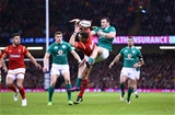10.03.17 - Wales v Ireland - RBS 6 Nations Championship - Round Four - Garry Ringrose of Ireland and George North of Wales compete for a high ball