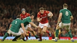 10.03.17 - Wales v Ireland, 2017 RBS 6 Nations Championship -  Dan Biggar of Wales looks for a gap in the Irish defence