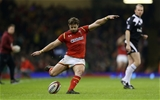 10.03.17 - Wales v Ireland - RBS 6 Nations Championship - Leigh Halfpenny of Wales kicks the conversion.