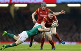10.03.17 - Wales v Ireland - RBS 6 Nations Championship - Scott Williams of Wales is tackled by Garry Ringrose of Ireland.