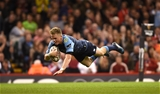 15.04.17 - Cardiff Blues v Ospreys - Guinness PRO12 -Gareth Anscombe of Cardiff Blues scores try.