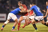 23.06.17 - Samoa v Wales -Jamie Roberts of Wales is tackled by Rey Lee-Lo of Samoa.