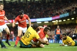 11.11.17 - Wales v Australia - Under Armour Series 2017 -Steff Evans of Wales scores try.