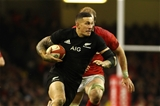 25.11.17 Wales v New Zealand - Under Armour 2017 Series - Sonny Bill Williams of New Zealand outpaces Alun Wyn Jones of Wales
