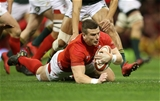 02.12.17 - Wales v South Africa - Under Armour Series 2017 - Scott Williams of Wales runs in to score a try.