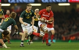 02.12.17 - Wales v South Africa - Under Armour Series 2017 - Taulupe Faletau of Wales is tackled by Dan du Preez of South Africa.