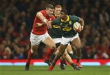 02.12.17 - Wales v South Africa, 2017 Under Armour Autumn Series - Warrick Gelant of South Africa is tackled by Scott Williams of Wales